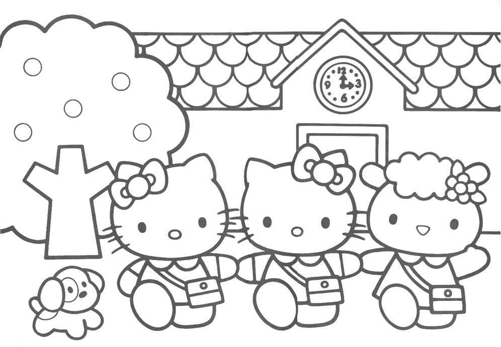 Hello Kitty - Downloads (Coloring Pages)