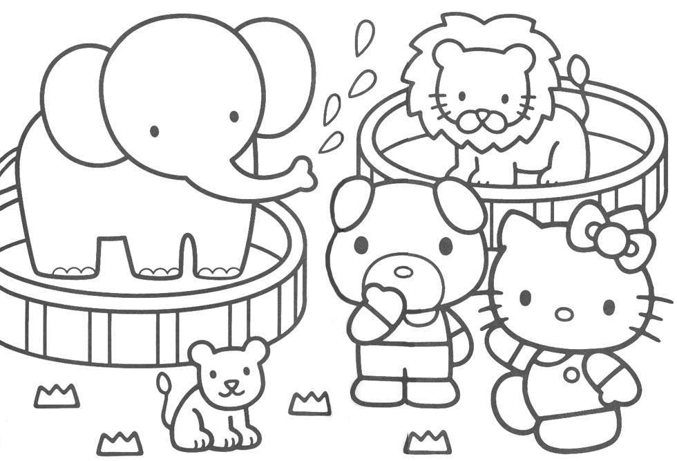 hello kitty downloads coloring pages - Kitty Printable Color Pages