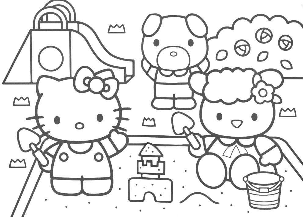 hello kitty downloads coloring pages - Colouring Pages Of Hello Kitty