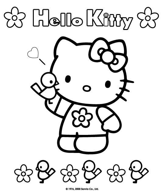 Hello Kitty And Friends Coloring Pages. Hello Kitty - Downloads